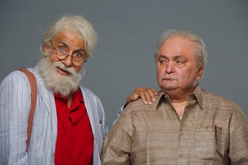 Amitabh Bachchan and Rishi Kapoor in the first look of 102 Not Out. Image via Twitter
