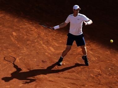 Andy Murray in action during the Madrid Open. AP