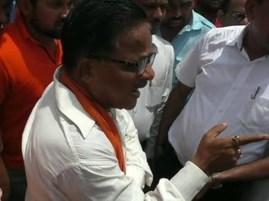 BJP MLA Radha Mohan Das allegedly pubicly humiliated a lady police officer in Gorakhpur, reducing her to tears. News18
