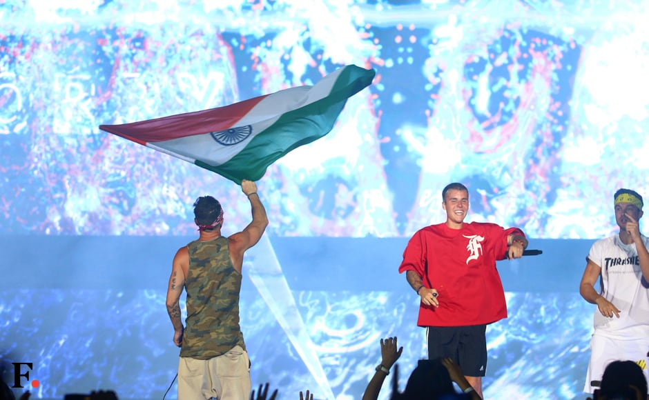 The star of the evening of course, was Justin Bieber himself. He came, he saw, he conquered. But then when you're playing to a stadium-ful of Beliebers, there can't be any other outcome. Photos: Sachin Gokhale