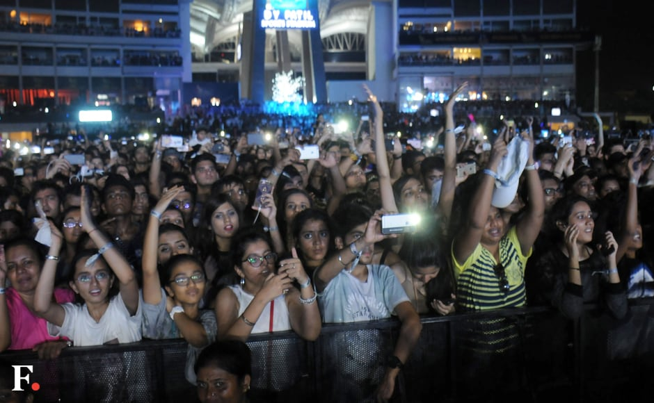'We're all Beliebers,' the crowd told Justin, as they cheered him on during his nearly two-hour long set. Photo: Sachin Gokhale/Firstpost
