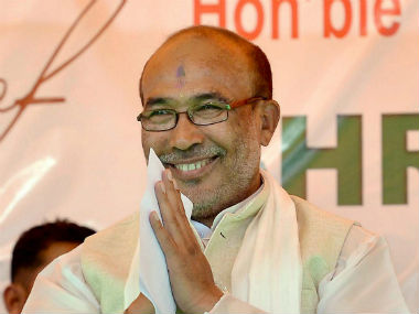 File picture of manipur Chief Minister N. Biren Singh. PTI