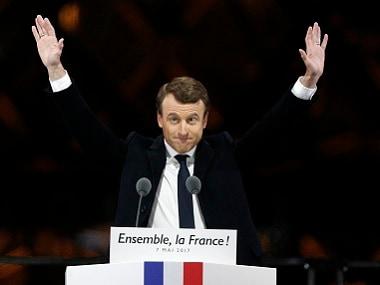 French President-elect Emmanuel Macron. AP