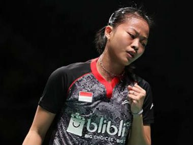 Indonesia's Fitriani Fitriani in action on Day 4 of the Sudirman Cup. Image courtesy: BWF Facebook page.