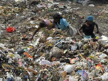 File image of garbage dumped in India. AFP