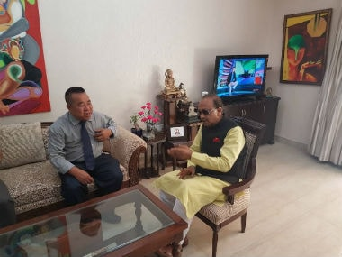 Sports Minister Vijay Goel meets Aizawl FC president Robert Royte, promises to build new stadium