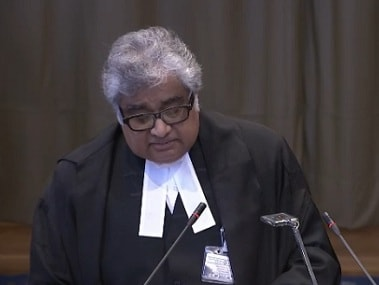 Harish Salve at the ICJ. Image credit: webtv.un.org