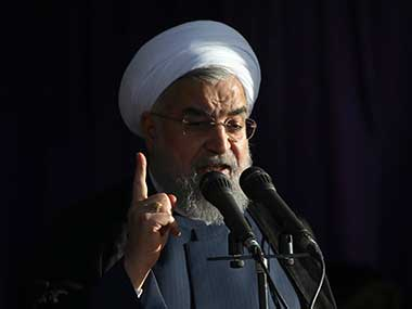 File image of Iranian president Hassan Rouhani. AP