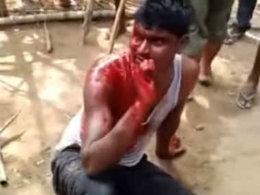 A man was beaten bloody by a mob on rumours that he was a child abductor. Image Courtesy: Youtube
