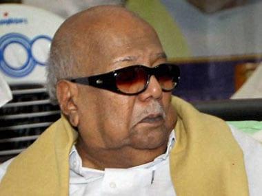 DMK founder Karunanidhi will turn 94 in June. PTI file image