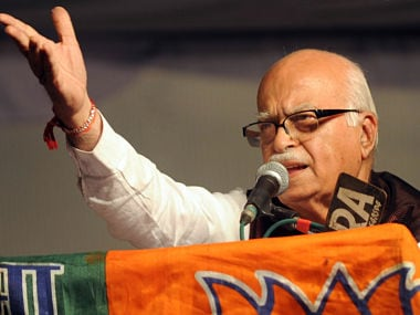 File image of senior BJP leader LK Advani. AFP