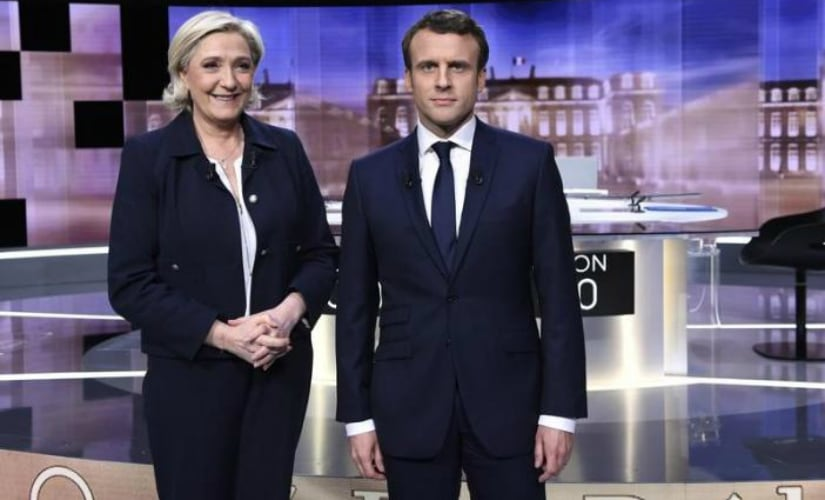 French presidential hopefuls (L-R) Marine Le Pen and Emmanuel Macron. Reuters