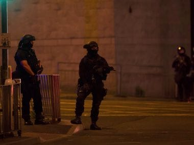 File image of police operation after Manchester attack. Reuters