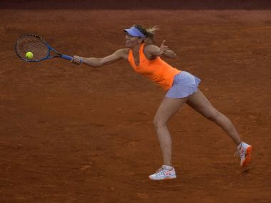 Maria Sharapova in action at the Madrid Open. Reuters