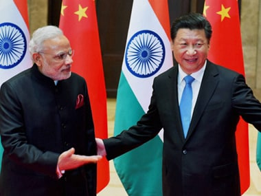 File image of Prime Minister Narendra Modi with Chinese President Xi Jinping. For the last two years, China has been blocking India's entry into NSG. PTI