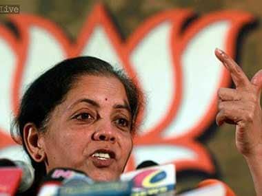 File image of Union minister Nirmala Sitharaman. PTI
