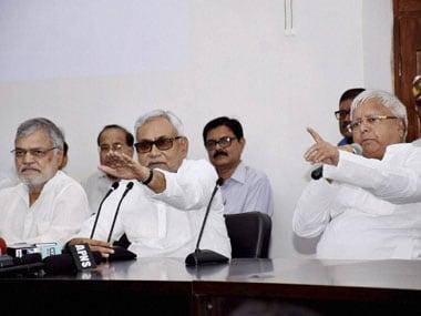 Bihar CM Nitish Kumar won't break ties with Lalu despite the corruption charges against him. PTI