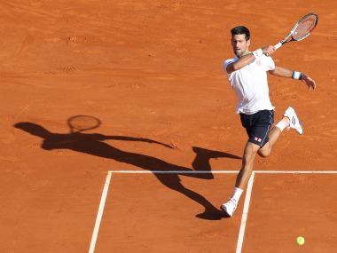 Novak Djokovic in action on clay at the Monte Carlo Masters. AFP