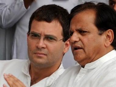 File image of Ahmed Patel with Rahul Gandhi. AFP
