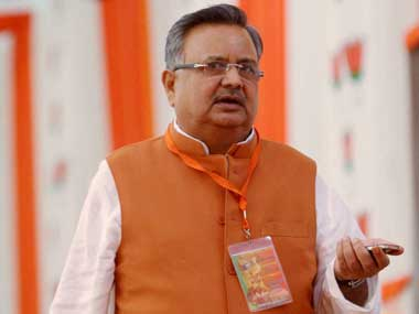 File image of Chhattisgarh Chief Minister Raman Singh. PTI