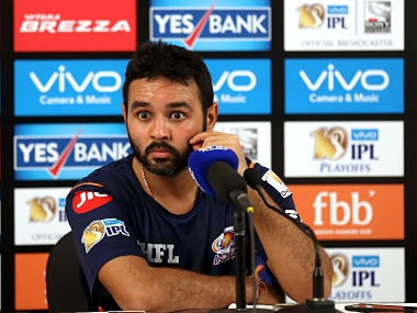 Parthiv Patel at a presser after the first qualifier between Mumbai Indians and Rising Pune Supergian. Sportzpics