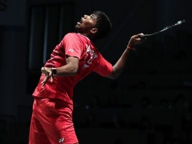 Satwick Rankireddy in action at the Sudirman Cup. Image courtesy: Official website