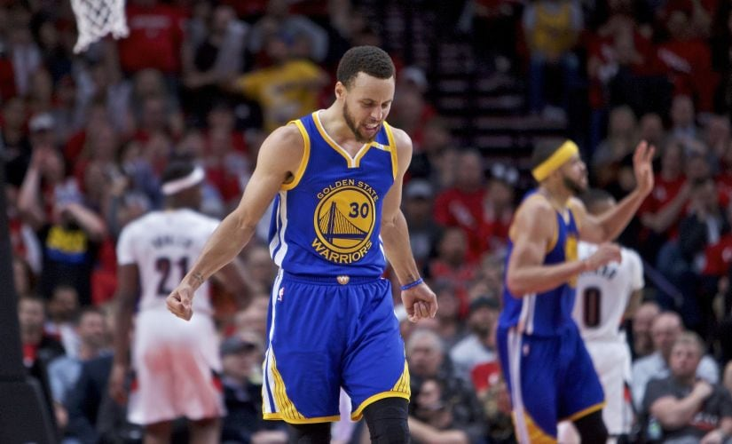 Stephen Curry found his best form just in time for the playoffs and was scintillating in the first round. AP