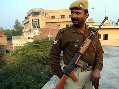Representational image of Uttar Pradesh police. AFP