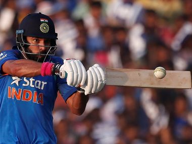 India's Yuvraj Singh plays a shot. REUTERS
