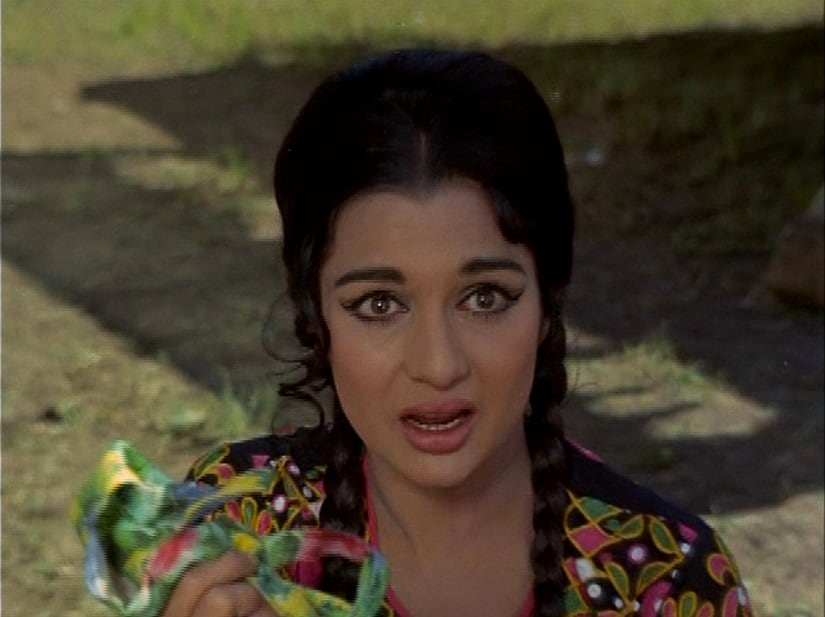 Asha Parekh in a still from 'Caravan'