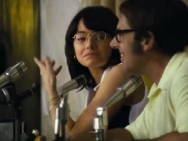 Battle of the Sexes trailer: Emma Stone, Steve Carell play tennis icons in this Oscar contender