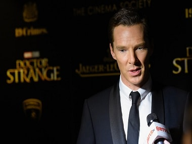"""NEW YORK, NY - NOVEMBER 01: Actor Benedict Cumberbatch attends the screening of Marvel Studios' """"Doctor Strange"""" at AMC Empire on November 1, 2016 in New York City. (Photo by Matthew Eisman/WireImage)"""