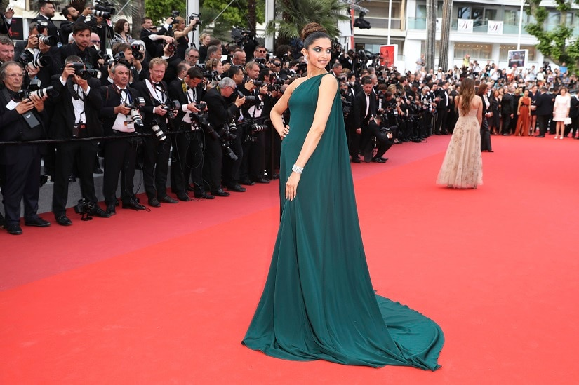 Deepika Padukone poses for photographers upon arrival at the screening of the film Loveless at the 70th international film festival, Cannes, southern France, Thursday, 18 May 2017. AP Photo