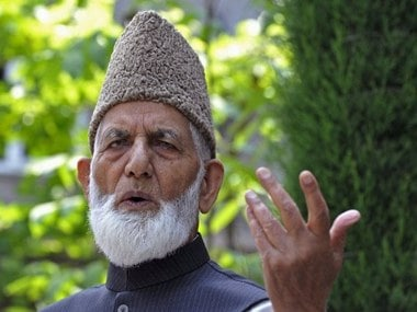 File photo of Syed Ali Shah Geelani. AFP
