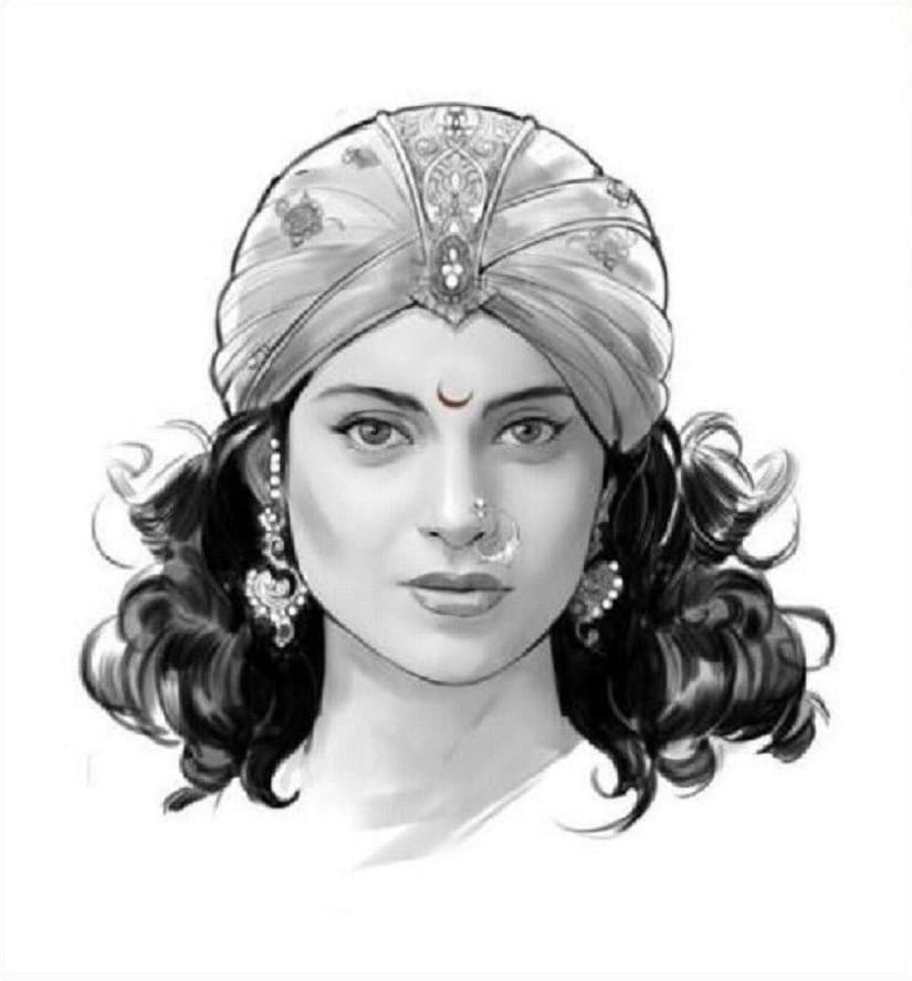 Kangana as Manikarnika. Image from Twitter