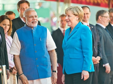 File image of Prime Minister Narendra Modi with German Chancellor Angela Merkel. Getty Images