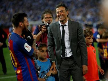 La Liga: Lionel Messi thanks outgoing Barcelona coach Luis Enrique for his time at the club