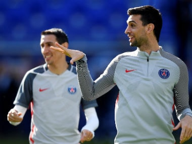 File image of Javier Pastore and Angel Di Maria. AFP