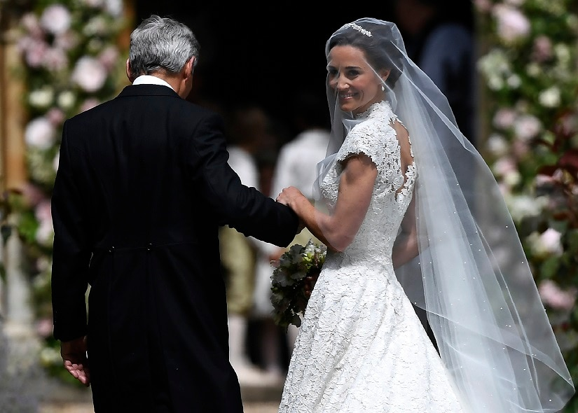 Pippa Middleton and hedge fund manager James Matthews tie the knot in almost-royal event