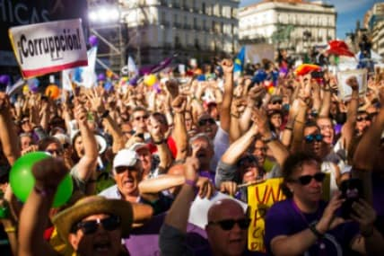 Thousands rally in Spain against PM Mariano Rajoy following corruption scandal; no-confidence motion tabled