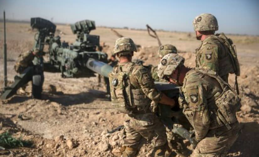 File image of US soldiers maneuvering an M-777 in Afghanistan. AP