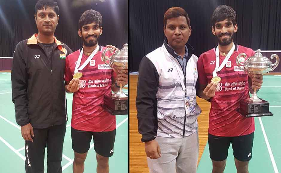 Srikanth credited his coaches, support staff and the staff at Gopichand Academy for the 'best phase' of his career. Twitter/@Bai_media