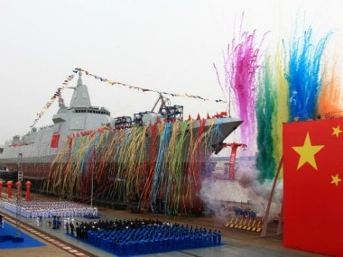 Chinas navy launches first indigenously-manufactured 10,000-tonne Type 055 destroyer