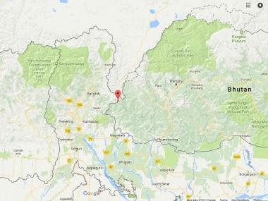 The Disputed area between Sikkim and Tibet