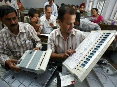 EVM demonstration during the hackathon. News18