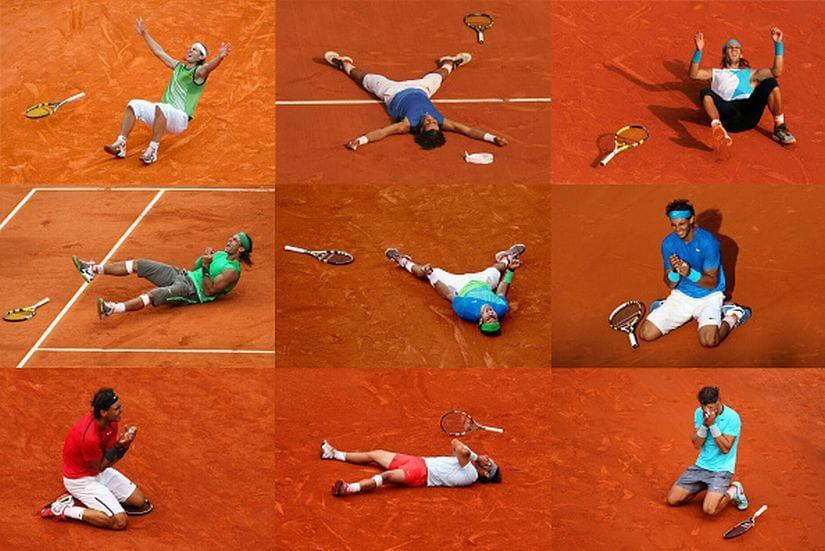 Rafael Nadal has won nine titles in Paris since 2005. Getty