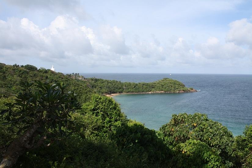 View from Rumassala peace pagoda