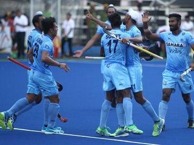 File photo of the Indian hockey team. Image courtesy: Hockey India via Twitter