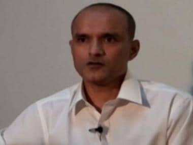 A TV grab of Kulbhushan Jadhav. News 18