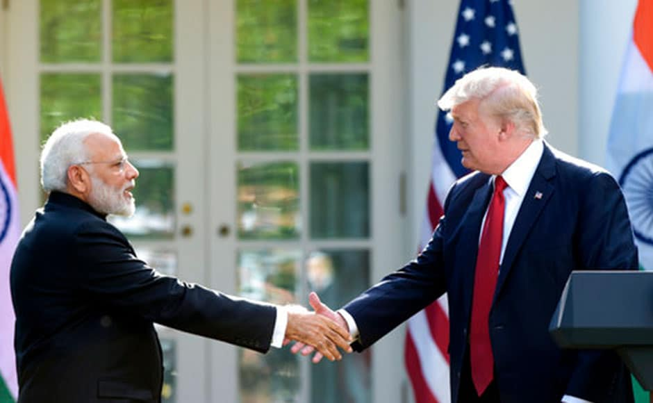 Modi will also have dinner with the president and first lady: The first dinner Trump has hosted for a foreign dignitary at the White House. AP